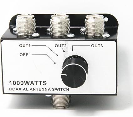 Ancable 1000/W /à Trois antenne Radio CB Coax commutateur