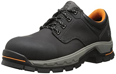 Timberland PRO Men's Stockdale Grip Max OX Alloy Toe Work and Hunt Boot, Black  Microfiber