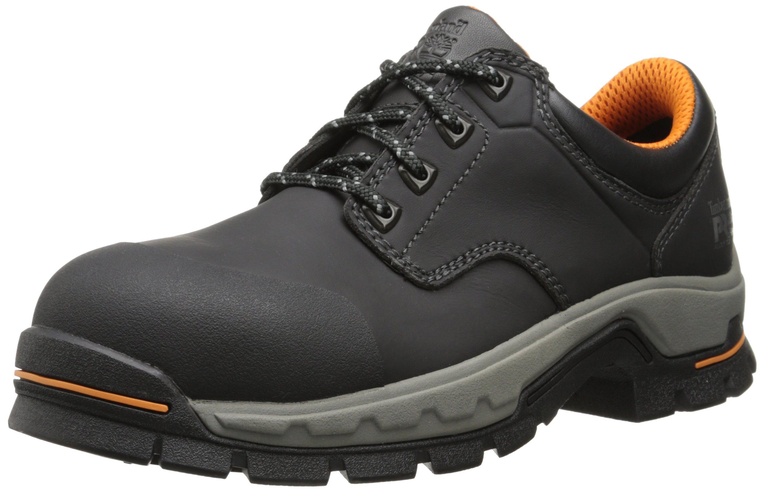 Timberland PRO Men's Stockdale Grip Max OX Alloy Toe Work and Hunt Boot, Black Microfiber, 7 M US
