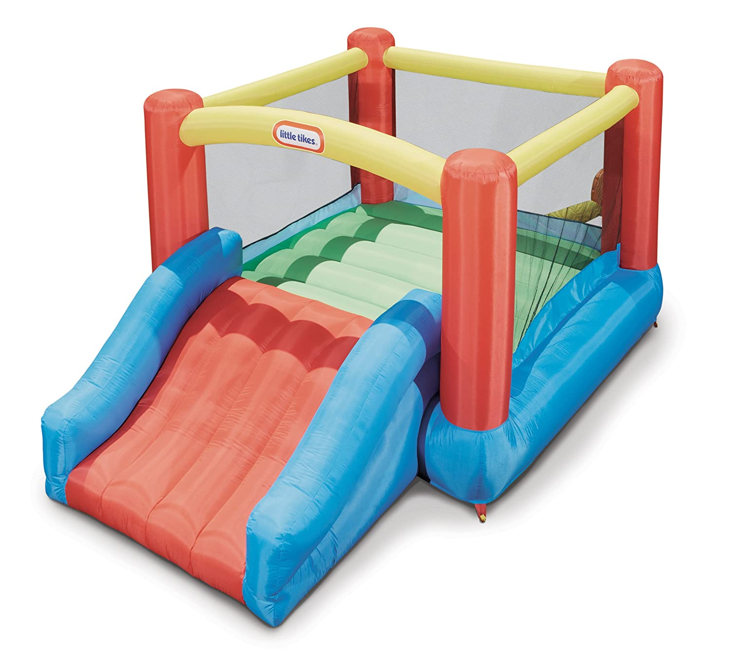 Amazon.com: Little Tikes Jr. Jump \'n Slide Bouncer: Toys & Games