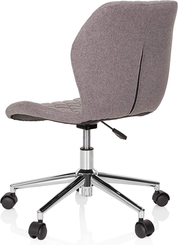 hjh OFFICE 670950 Chaise d'enfant et Adolescent Joy II Tissu Gris Fauteuil de Bureau avec roulettes, grandit avec toi