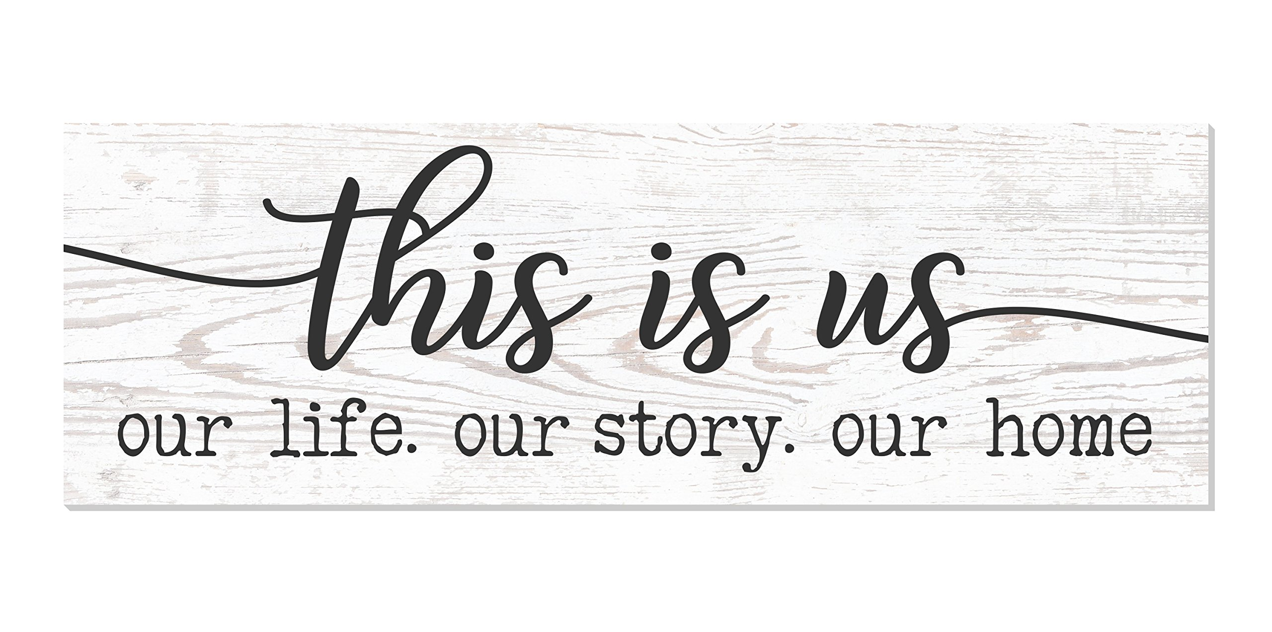 This is Us Our Life Our Story Our Home Rustic Wood Wall Sign 6×18 (Brown)
