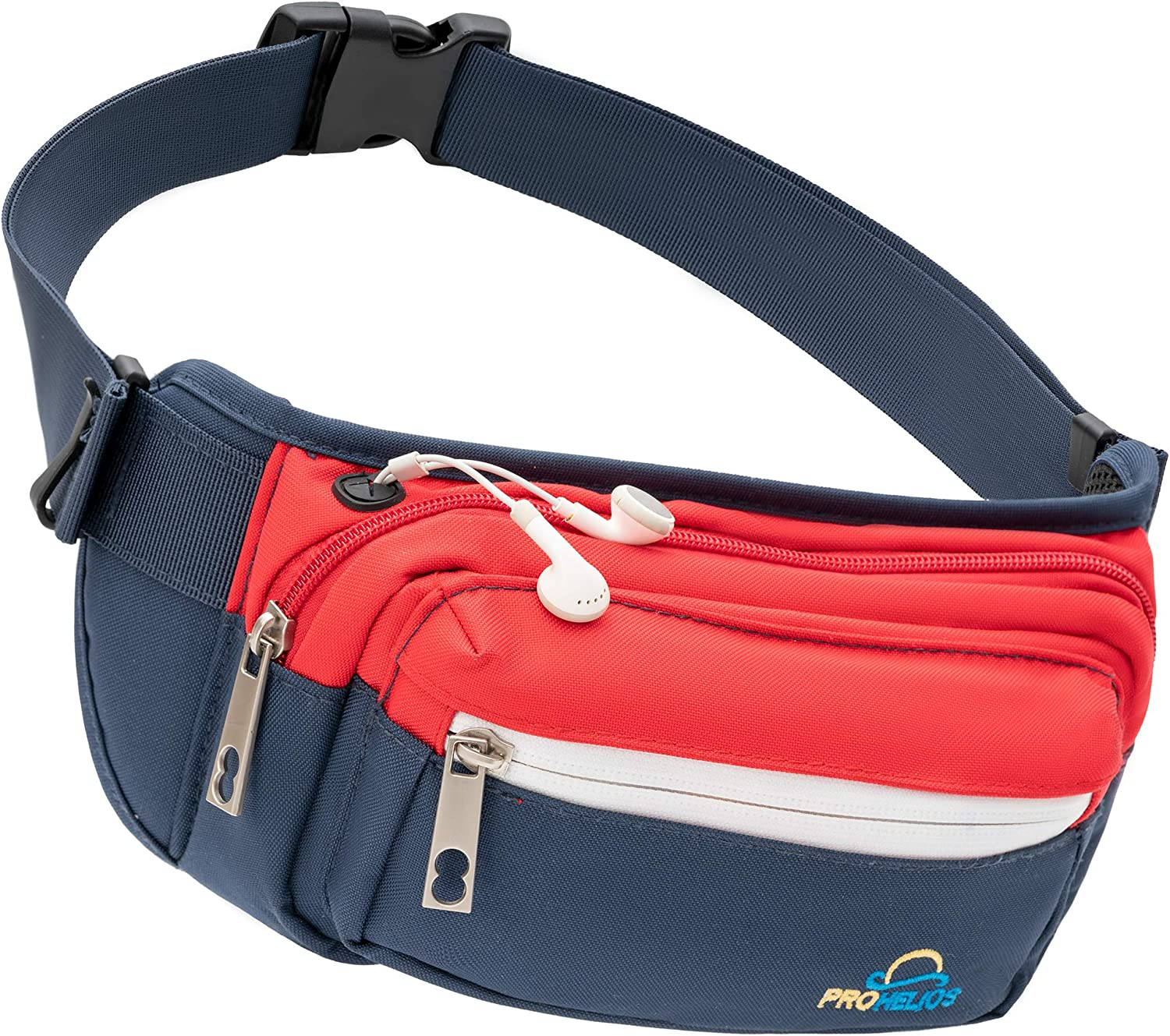 Pro Helios Premium Fanny Packs for Men & Women Water Resistant Waist Bag for Outdoor Activities, Traveling, Hiking, Biking, Running & More | Fannie Pack for Women