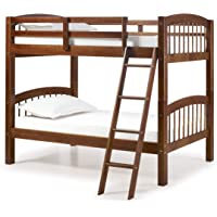 Alaterre Spindle Chestnut Twin Over Twin Wood Bunk Bed (Chestnut)