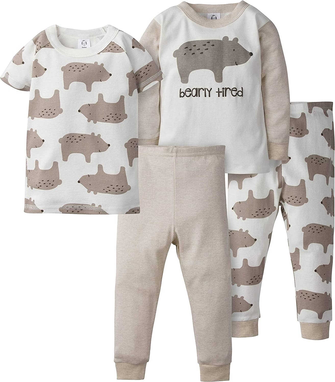 GERBER Boys 4-Piece Pajama Set