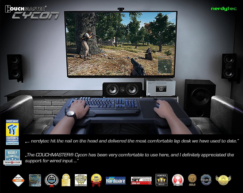Couchmaster® Cycon² - Black Edition - Base ergonómica para Ratón y Teclado. Utilizable: PS4/5 / PC / XBOX One - Series X