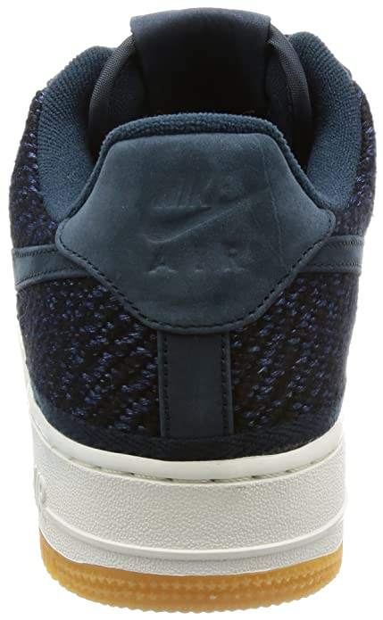 Amazon.com | NIKE Mens Air Force 1 07 Indigo Armory Navy/Ankle-High Cotton Fashion Sneaker - 11M | Basketball