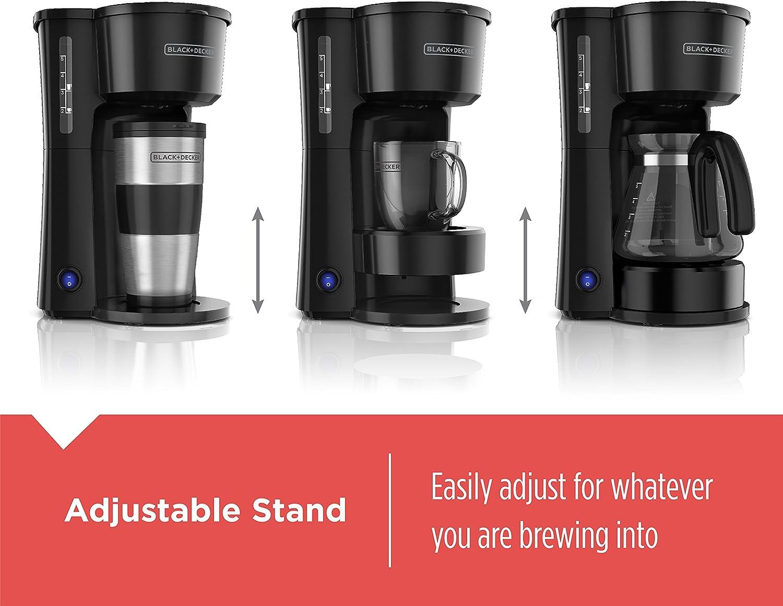 Black+Decker CM0755BZ 4-in-1 5-Cup Station Coffeemaker
