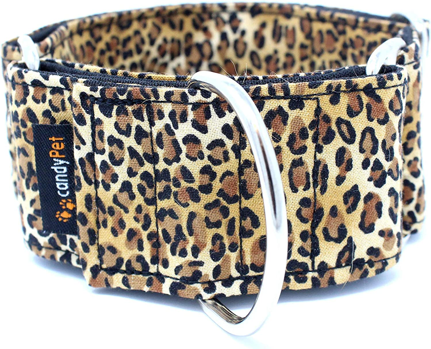 candyPet Collar Martingale Para Perros - Modelo Leopardo, L ...
