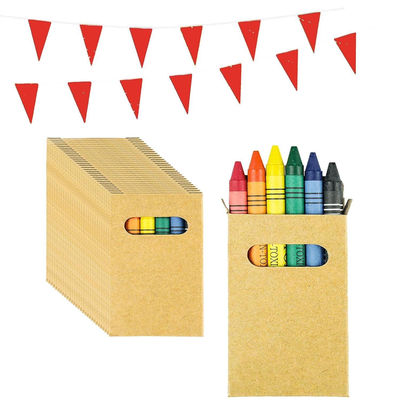 Piñatas de Cumpleaños Infantiles Partituki. 50 Sets de 6 Ceras de Colores y una Guirnalda de 10 m. Ideal para Detalles Cumpleaños Infantiles y Regalos ...