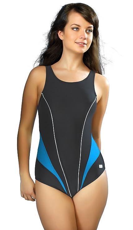 Gwinner ® Wettkampfanzug Schwimmanzug Badeanzug Auswahl ! - MADE IN EU  (Graphit Blau, d1dc74a571