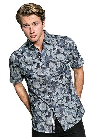 63fb45622ff Smash Men's Woven Short Sleeve Shirt with Tailored Collar (Large, Madiba)  at Amazon Men's Clothing store:
