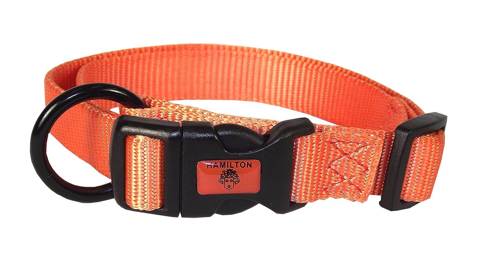 Hamilton Adjustable Nylon Dog Collar FAL 18/26 MA Mango Orange - 1