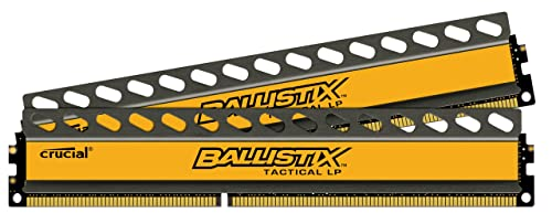 Ballistix Tactical Low Profile 16GB Kit 8GBx2 DDR3-1600 1.35V UDIMM 240-Pin Memory Modules BLT2K8G3D1608ET3LX0