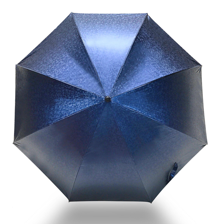 Paraguas de golf resistente al viento por ambrellaok 60 cm grande Auto abierto lluvia protección UV paraguas, 3D Azul: Amazon.es: Deportes y aire libre