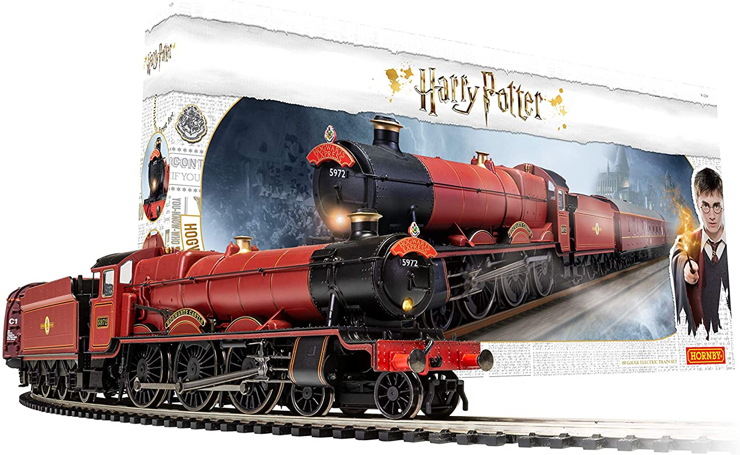 New Release Hornby G Scale Harry Potter Hogwarts Remote Control Train Set.