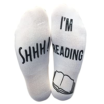 'Shhh I'm Reading' Funny Ankle Socks - Great Gift For Those People Who Love Books! at Amazon Women's Clothing store
