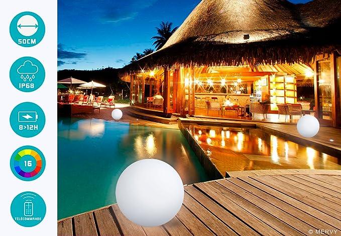 Lampada sfera led per esterno: lampada da giardino senza fili