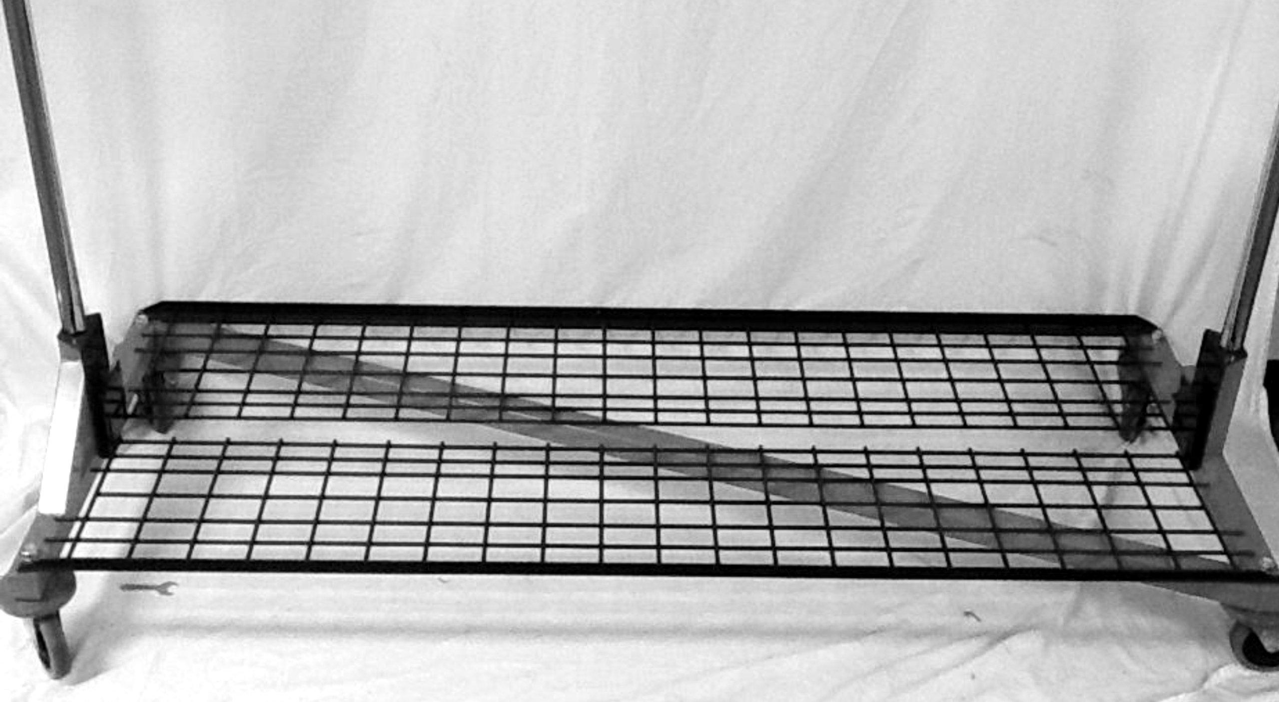 Black 2-Piece Folding Shelf with Brackets for our M-Series Z Rack