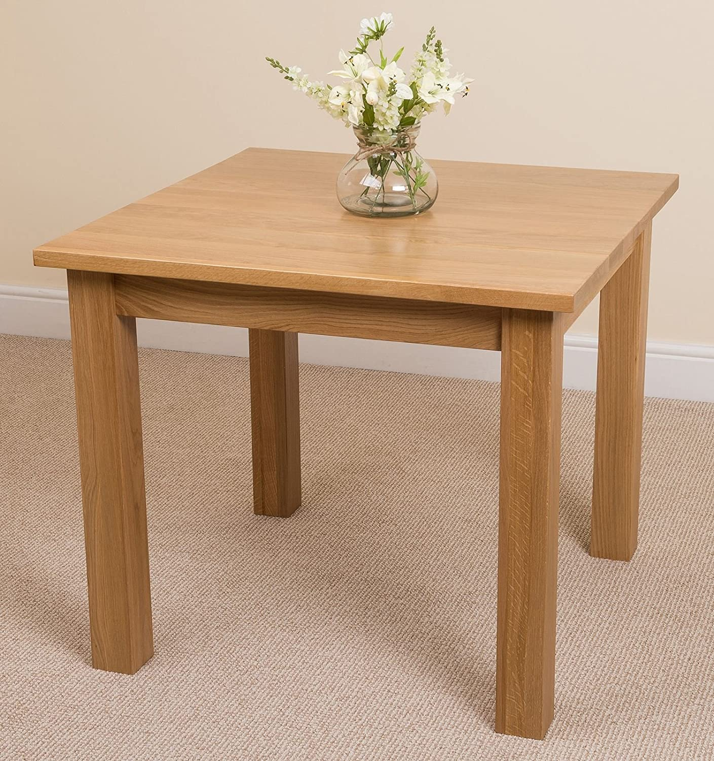 Oslo Solid Oak Square 90cm X Dining Room Table Amazoncouk Kitchen Home