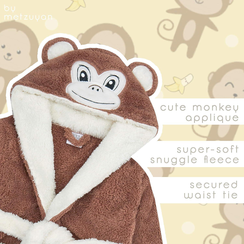 Metzuyan Baby Girls /& Boys Plush Animal Themed Dressing Gown Robes