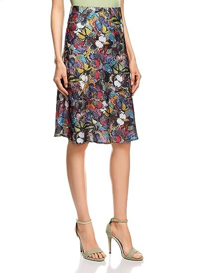 oodji Collection Mujer Falda Ligera Estampada, Multicolor, ES 36 ...