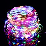 Twinkle Star 200 LED 66ft Christmas Fairy String Lights USB & Adapter Powered, Dimmable Starry Silver Wire Light Home Lightin