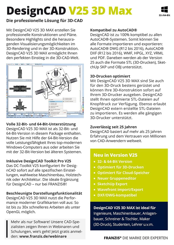 DesignCAD 3D Max V25: IMSI: Amazon.de: Software