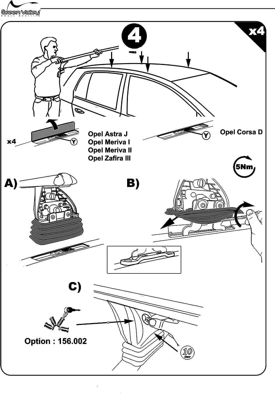 Barre portatutto per auto per Opel Corsa D 3//5dr con portellone posteriore modelli dal 2006 in avanti