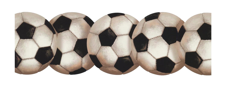 Amazon.com: York Wallcoverings BT2900B Soccer Ball Border, Ebony ...