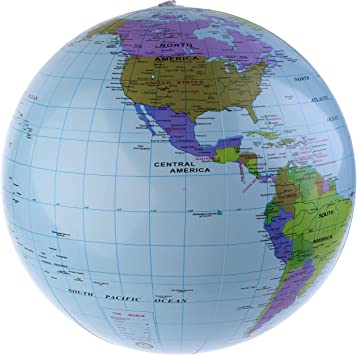 Amazon.com: Inflable mundo Globe playa educativo bolas 6 ...
