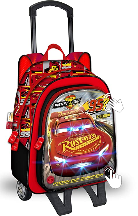 604ddd197 Mochila con Ruedas Disney Cars Rojo 42 cm. Toybags 2018: Amazon.es ...