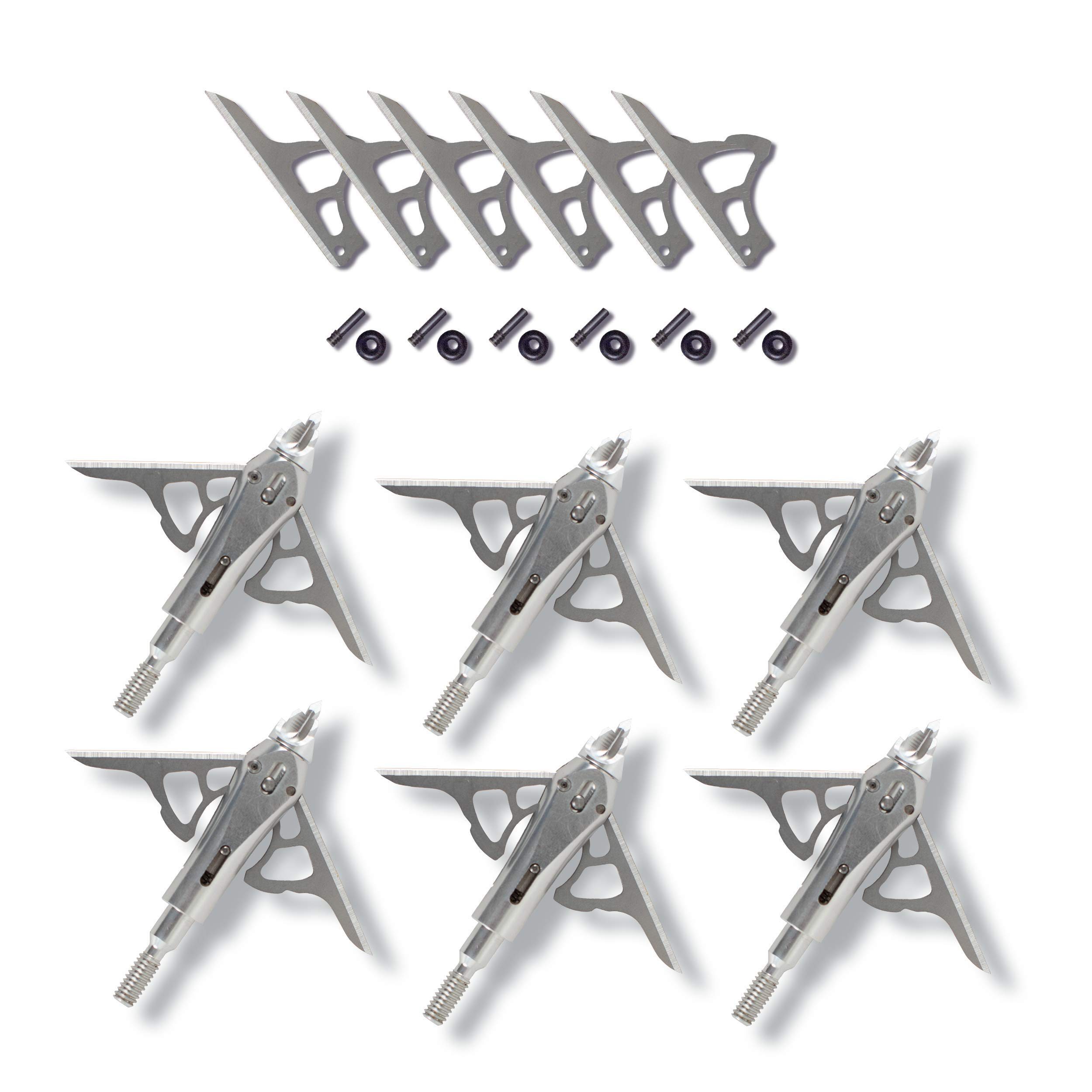 Ramcat Hydroshock Pivoting Broadhead /& Smoke Small Game 100 Grain Value Pack