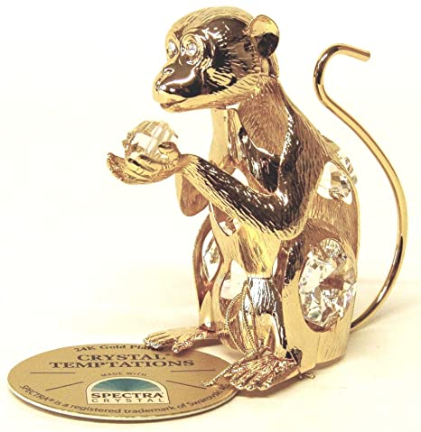 Amazon.com: overol Animal, Gold-Plated con piedras Swarovski ...