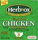 Herb-Ox Bouillon Packets Chicken Instant Broth & Seasoning 1.13 oz box