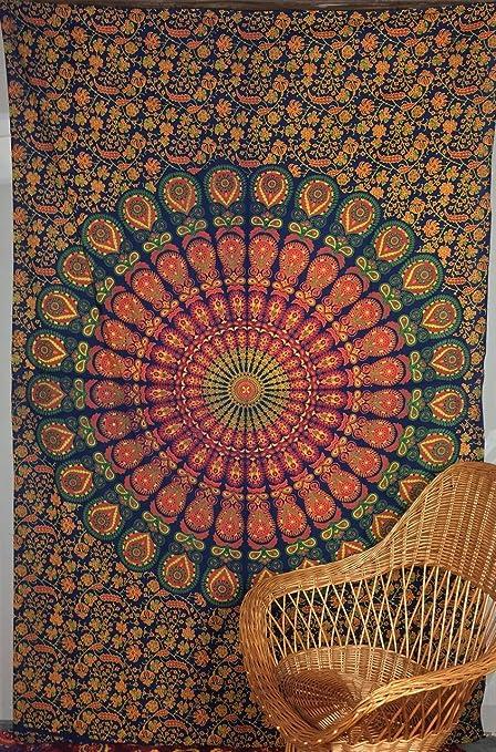 Indian Handmade Hippie Boho Bohemia Decoración Gitana Decoración Decorativa Decoración Mandala Colgante de Pared Tapicería Toalla