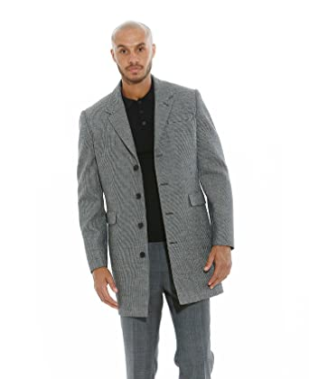 The Savile Row Company Savile Row Men's Black Grey Wool Cashmere ...
