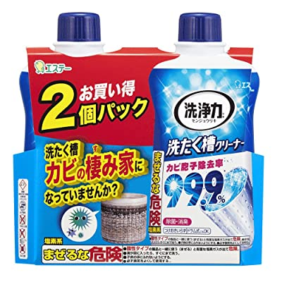 【3日まで】エステー 洗浄力 洗たく槽クリーナー 洗濯機用 550g×2個 税込225円 プライム会員送料無料