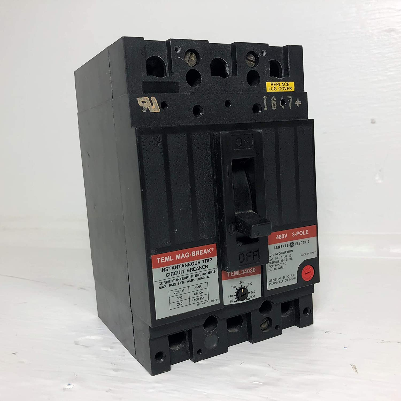 TEML34030 - Molded Case Circuit Breaker - TEML Type - 3 Pole 480V 30 AMP
