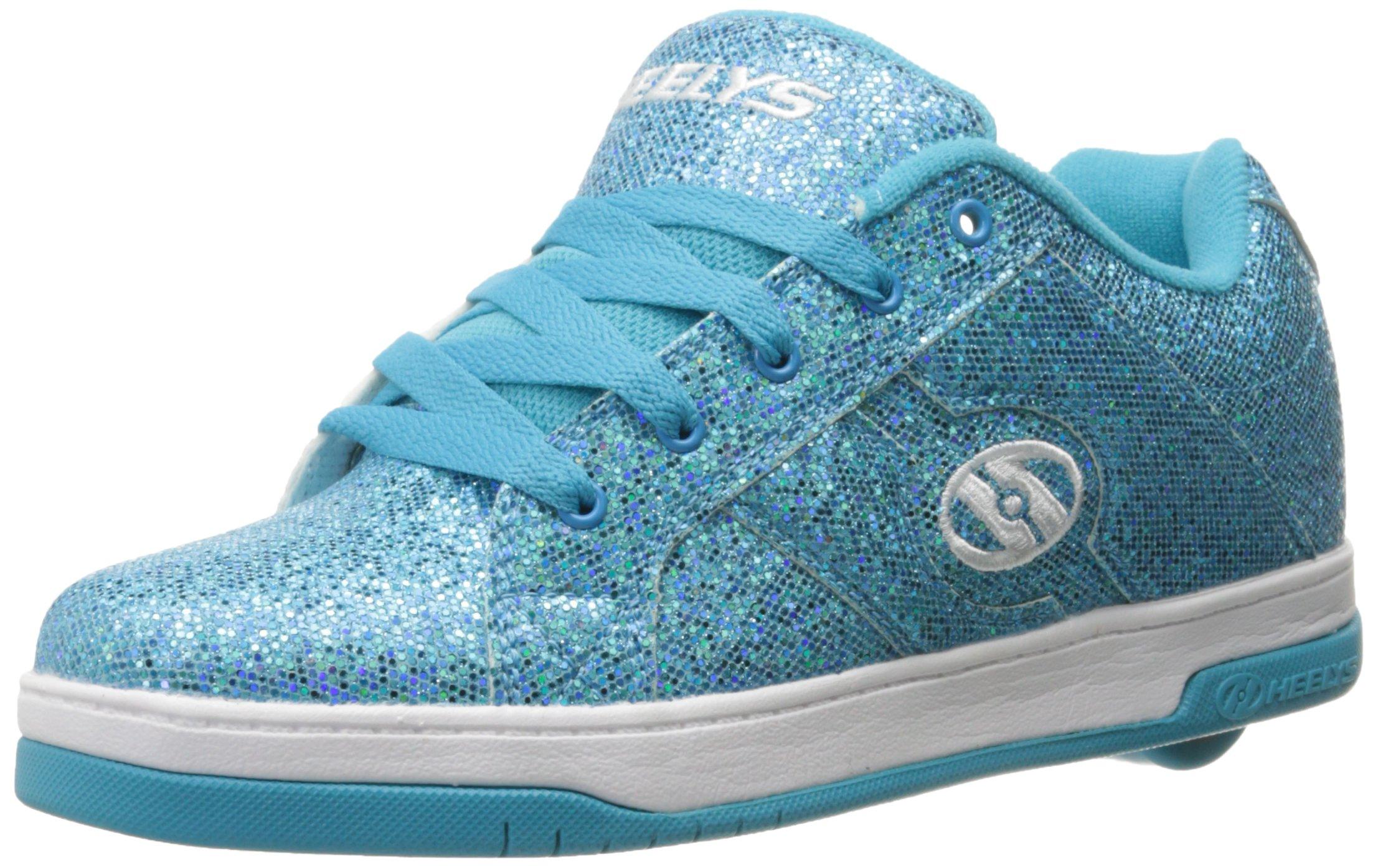 Heelys Split Sneaker, Blue Disco Glitter, 8 M US Big Kid