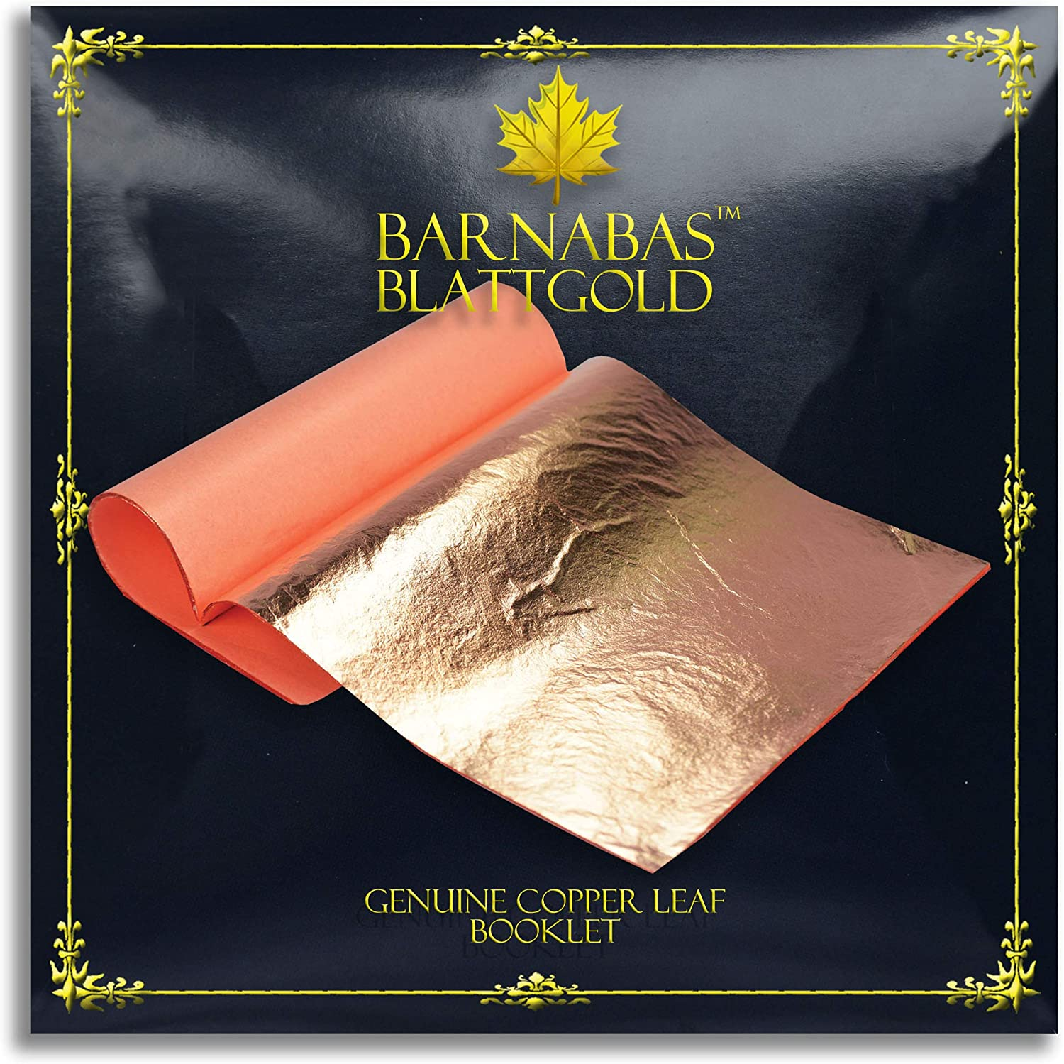 Transfer Patent Leaf by Barnabas Blattgold 5.5 inches Booklet 25 Sheets Genuine Copper Leaf Sheets