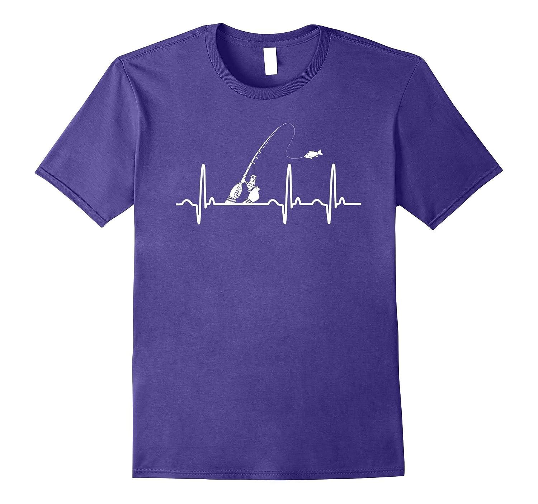 Heartbeat Fishing Fisherman Gift T-Shirt