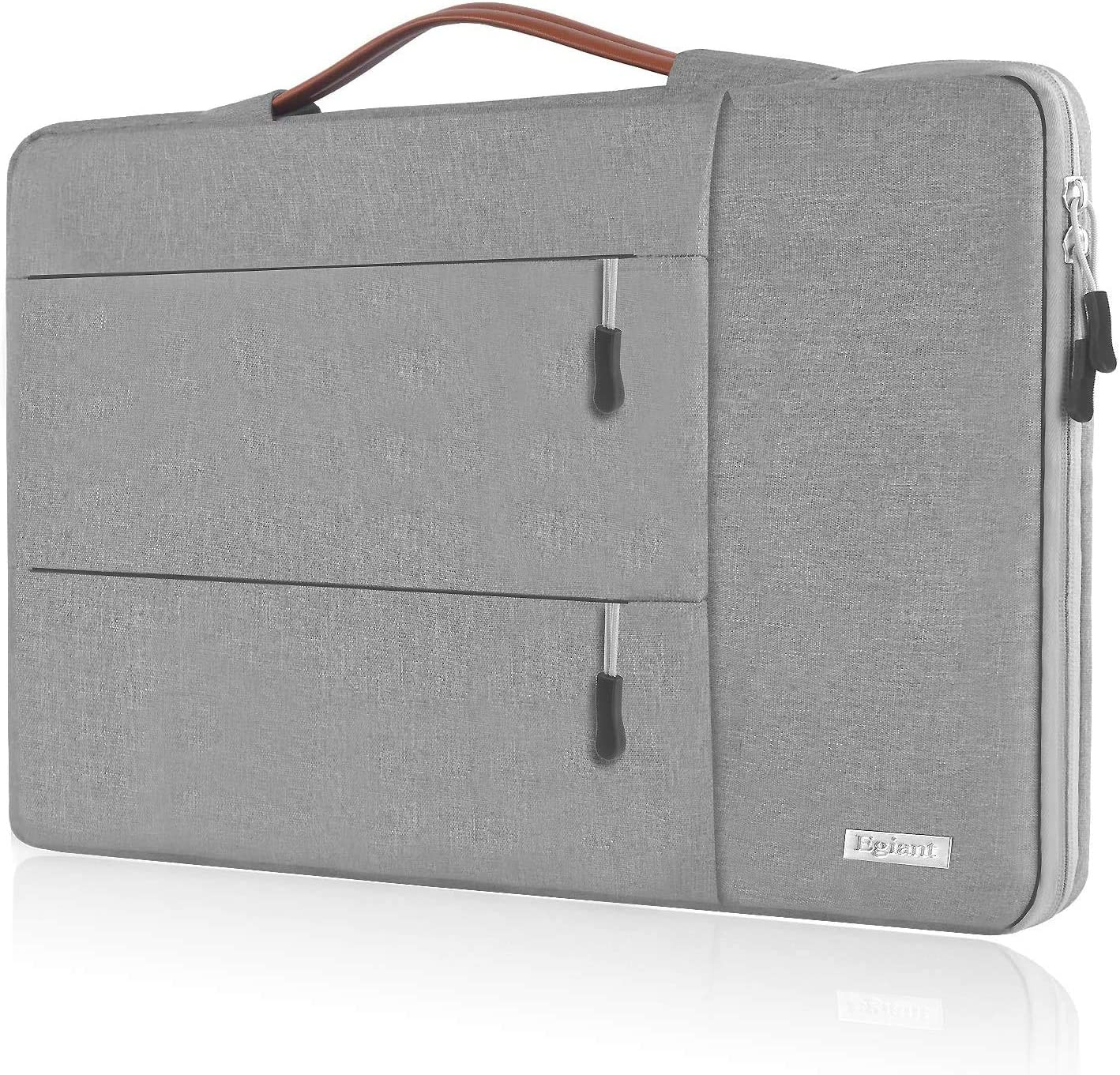 Egiant 14 inch Laptop Sleeve Case,360°Protective Handbag for HP Chromebook 14,Acer Spin 3/Aspire 1,Dell Inspiron 14/Latitude,Lenovo Flex 14,ASUS VivoBook Zenbook,Water-Resistant Notebook Bag, Gray