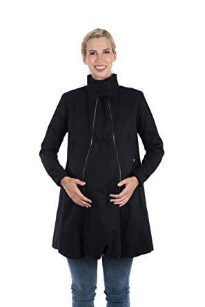 Modern Eternity Womens A-Line Wool Maternity Coat Maternity X-Small Black