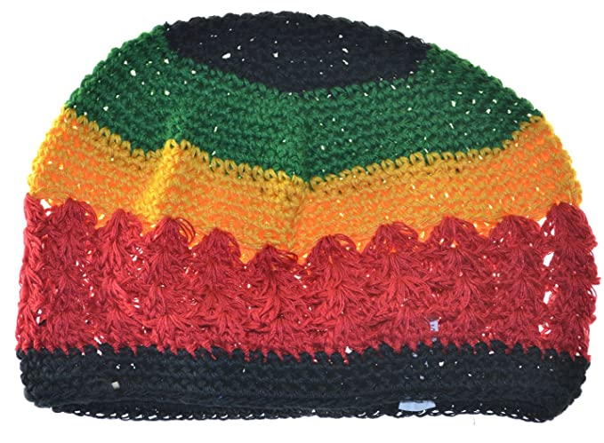 Amazon Mm Kufi Hat Crochet Cap Beanie Rasta Black Red Yellow