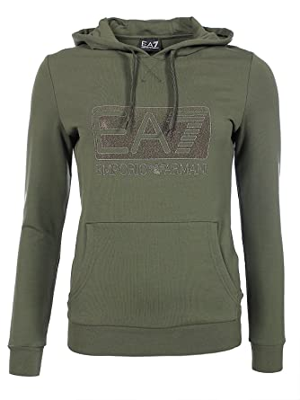 5198e90432bd Armani EA7 Femme - Pull   Sweatshirt Kaki Armani EA7 6XTM92 TJ24Z - Taille  vêtements -