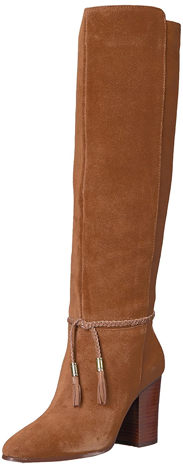 Aerosoles Women's Square Foot Knee High Boot B074GYNRTS 5 B(M) US|Dark Tan Suede