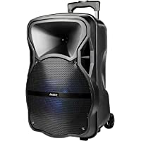 Laser Portable Party Speaker Trolley Bluetooth Mic LED Lights for Backyard Camping and Beach Party, Wireless Speaker
