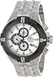 Invicta Pro Diver Men's Quartz Watch with Silver Dial  Chronograph display on Silver Stainless Steel Bracelet 12366
