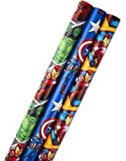 Hallmark Disney Mickey Mouse Wrapping Paper with Cut Lines (Pack of 3, 105 sq. ft. TTL.)